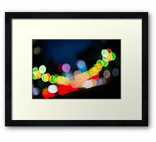 Bokeh Lights Framed Print