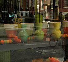 Flower shop window  by Jeff Stroud