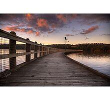 Lake Narracan at Sunset Photographic Print