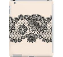 Horizontal black lace ribbon. iPad Case/Skin