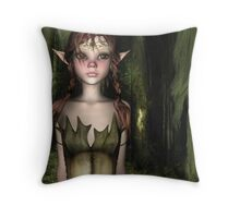 Waif Throw Pillow