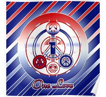 One Love (Patriotic Variant) Poster