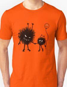 Evil Cartoon Bug Mother And Child Unisex T-Shirt