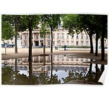 Ecole Militaire reflection Poster
