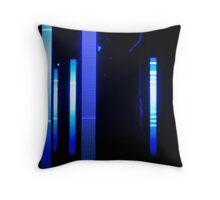 Enlightened By Blue Throw Pillow