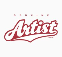 GenuineTee - Artist (white/pink) by GerbArt