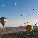 Balloons over Cappadocia by diggle