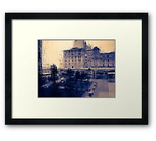wet winter abstract Framed Print