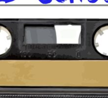 Old School Music Cassette Tape Sticker