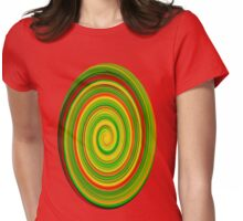 Twirl elipse Womens Fitted T-Shirt