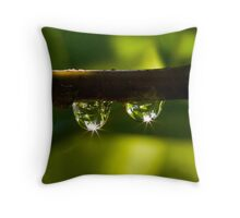 Elder dewdrops Throw Pillow