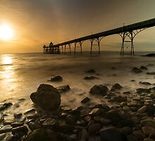 Clevedon Pier Sunset  by Rob Hawkins