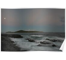 fingal island full moon Poster