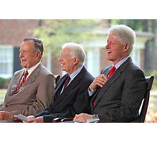 Three US Presidents Bush,Carter,Clinton  Photographic Print