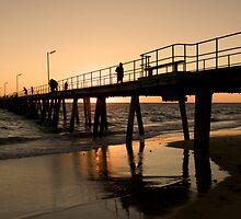 Port Noarlunga Jetty Glow by Darryl Leach