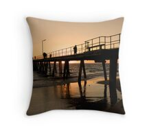 Port Noarlunga Jetty Glow Throw Pillow
