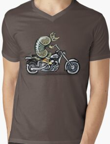 Biker Dillo Mens V-Neck T-Shirt