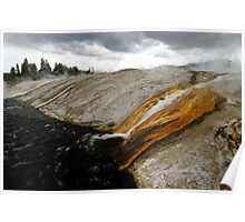Outflow of Grand Prismatic Spring Poster