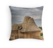 Sphinx With Shielded Eyes Throw Pillow