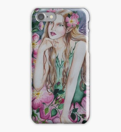 Wild rose fairy tote bag iPhone Case/Skin