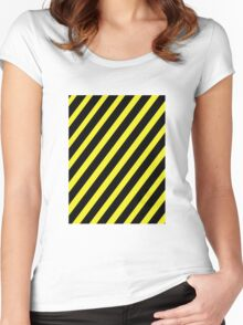 Warning Women's Fitted Scoop T-Shirt