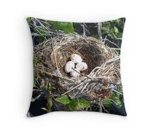 Comfort in the nest Throw Pillow