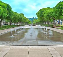 Avenue Jean Jaures Nimes by Scott Carruthers