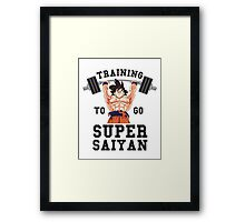 Training to go Super Saiyan 1 Framed Print