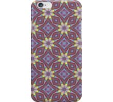 Yellow Flowers and Amethyst Diamonds Repeating Pattern iPhone Case/Skin