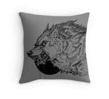 Werewolf moon inks Throw Pillow