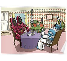 Killer-bot Tea party Poster