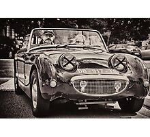 Old vintage British convertible car Austin Photographic Print