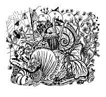 Biodiversity Aussie Tangle by Heatherian