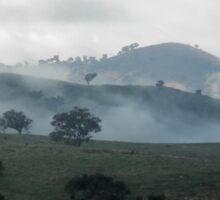 Heavenly Hills, Valley near Gundagai, NSW, Australia. Sticker