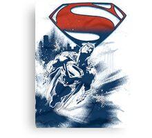 Superman Flying Man of steel Canvas Print