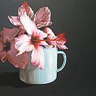 still life with hibiscus by Marike Kleynscheldt