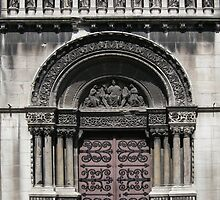 Door of church St Pierre, Lyon Vaise by KERES Jasminka