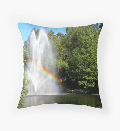 Rainbow's End Throw Pillow