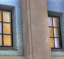 Gold Windows, Blue Tile by Delany Dean