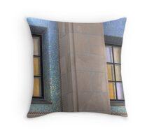Gold Windows, Blue Tile Throw Pillow