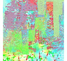Decorative Abstract in Red, Orange, Green, Blue, and Purple Photographic Print