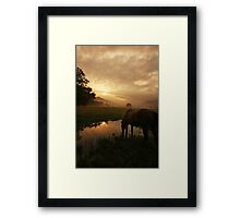 Sunrise in Cades Cove Framed Print