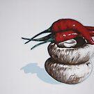 still life with chillies by Marike Kleynscheldt