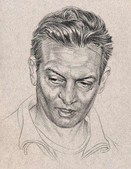 Rosewood - portrait study sketch by Chris Baker