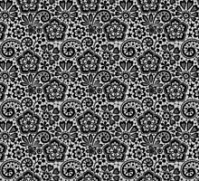 Black Lace Seamless Pattern. by Laces