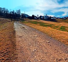 Trail to the village center   landscape photography by Patrick Jobst