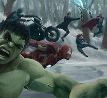 Avengers Assemble! by Jesús Alfonso Sánchez