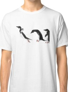 Birds - Illustration - Adelie penguins jumping  Classic T-Shirt