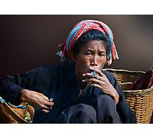 SMOKE - BURMA Photographic Print