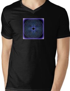 Blue Spirograph Pattern Mens V-Neck T-Shirt